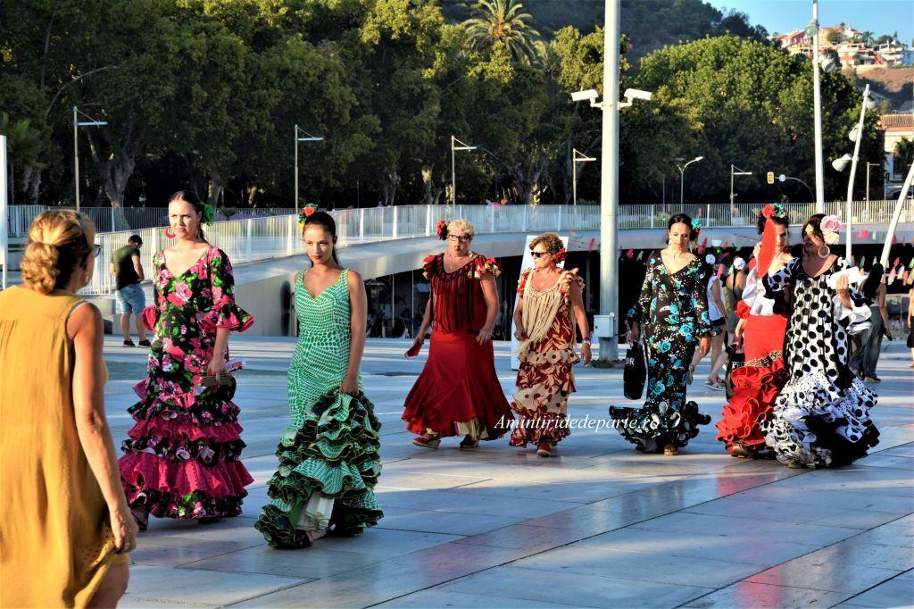 rochii de flamenco, Andaluzia Spania