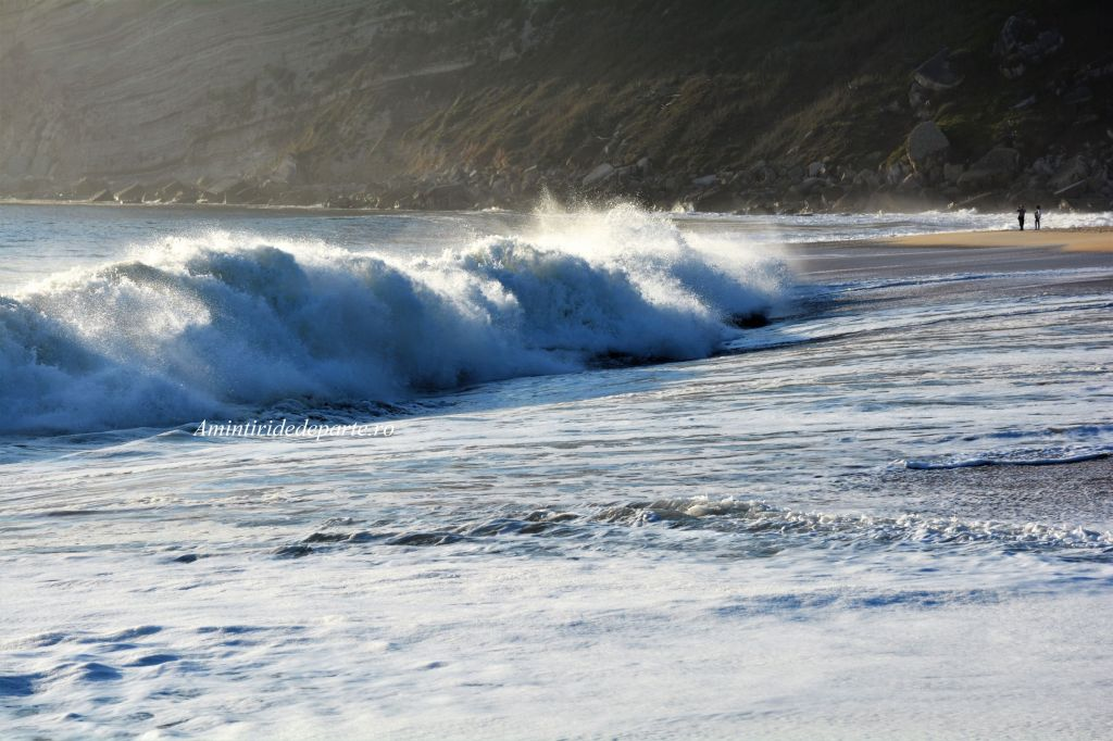 the waves of Nazare, Portugal