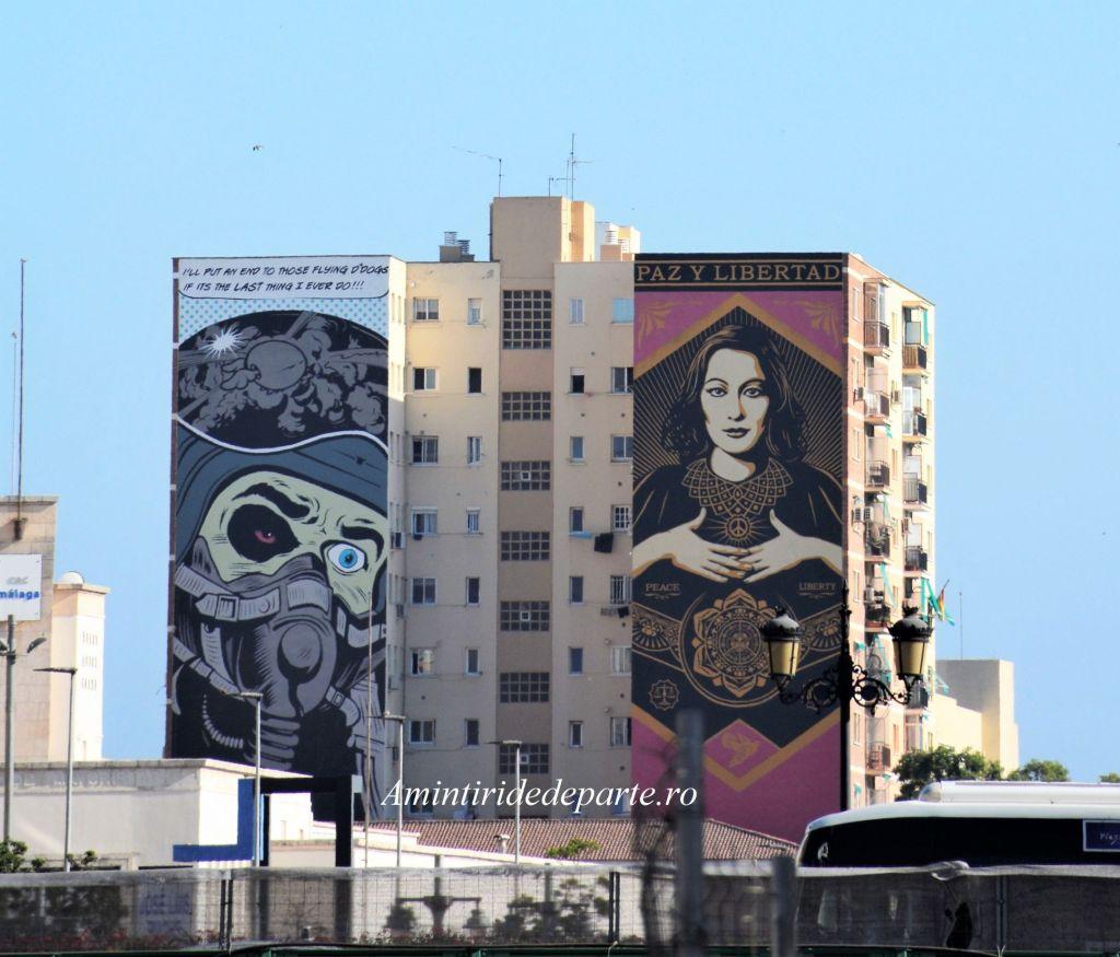 pictura murala din Cartierul Soho din Malaga